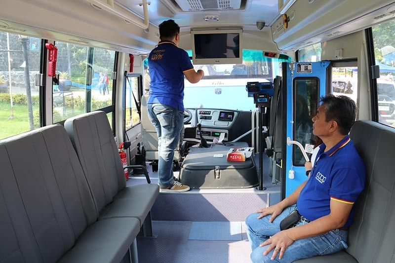 MODERN FEATURES. Each bus-jeep is equipped with a security camera, a global positioning system, a speed limiter and a dash camera, among others.  (Sunstar Photo / Amper Campaña)