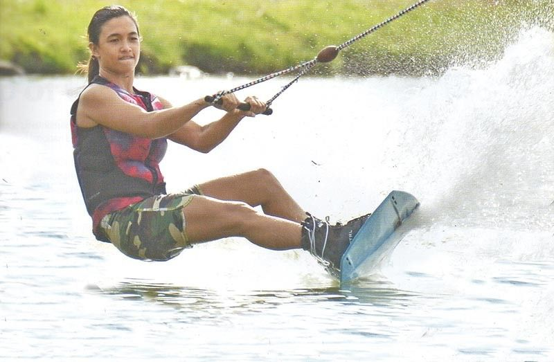 DAVAO. Davao City's Maiquel Jawn Teh Selga, in a SunStar Davao file photo, is upbeat about trying out a thinner board when she competes in the waterski trick ski event of the upcoming 30th Southeast Asian (SEA) Games in the Philippines. (King Rodriguez)