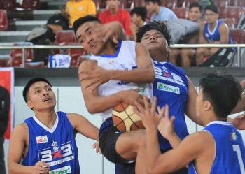 BAGUIO. More than 30 basketball teams seek dominance in the recently concluded Samahang Basketball ng Pilipinas (SBP) 3x3 under 18 CAR regional finals at the University of Baguio gym over the weekend. (Photo by Jean Nicole Cortes)