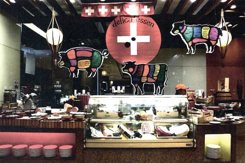 """FOOD. The """"Swissness from A to Z"""" Deli corner at Cafe Marco."""