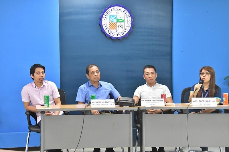 DAVAO. Ateneo de Davao University Office of Student Affairs head Theresa Eliab (right) said in a press conference Wednesday, September 18, that they are happy to host the upcoming Dacs 2019 college sportsfest. (Macky Lim)