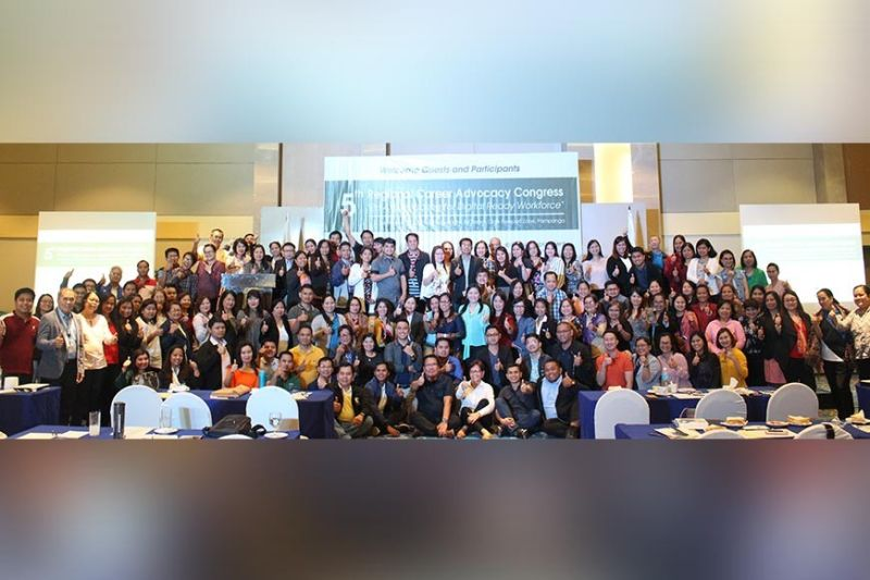 PAMPANGA. Participants of Dole-Central Luzon's 5th Regional Career Advocacy Congress flash the thumbs up sign after the forum at Clark Freeport. (Contributed photo)