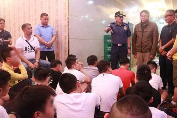 MANILA. A total of 33 Chinese nationals were arrested on September 18, 2019 for allegedly operating or patronizing a prostitution den disguised as a spa in Makati City. (Photo from NCRPO)