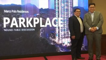 CEBU. Federal Land Inc. Senior vice president and head of Sales and Marketing John Cabato (right) and Product Planning Department head Michael Salazar during the media roundtable discussion at the Marco Polo Plaza in Cebu City Wednesday. (Photo by Erwin P. Nicavera)