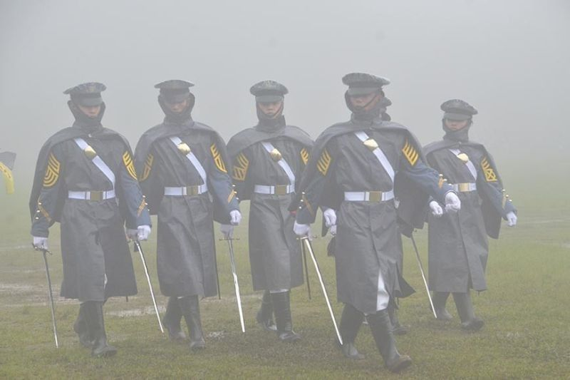 BAGUIO. In this photo taken on August 10, 2019, Philippine Military Academy cadets held a parade and review at the Borromeo Field amid the fog. (SunStar Baguio File Photo)