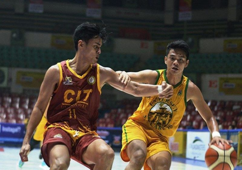 Justine Jules Langres, seen here trying to get past CIT-U's Mark Kong, will be a key cog for the USC Warriors as they try to hand the SWU-Phinma Cobras its first loss of the season. (Image courtesy of  CESAFI Media Bureau)