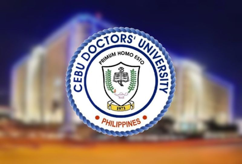 Cebu Doctors' University logo.