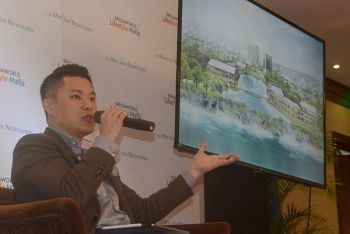 NEW INVESTMENT. Megaworld chief strategy officer Kevin Tan says Mactan Newtown will become a key commercial center in the island tourist hub of Mactan as the listed firm builds the P1.5 billion Beach Walk in the integrated development. (SunStar Photo/Arni Aclao)