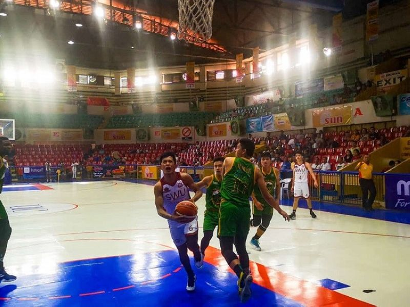 SWU-Phinma's Shaquille Imperial scored the basket that gave the Cobras the lead for good with just seven seconds remaining in the game. (Photo by Jonas Panerio)