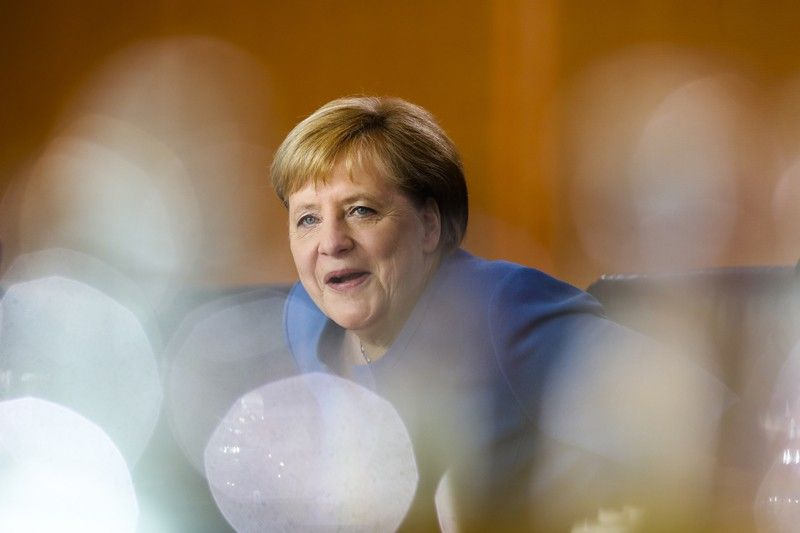 GERMANY. German Chancellor Angela Merkel arrives for a meeting of the called Climate Cabinet at the chancellery in Berlin, Germany, Friday, September 20, 2019. The Climate Cabinet in a committee of German government ministers and advisors to develop strategies for Germany to fight the climate change. (AP)