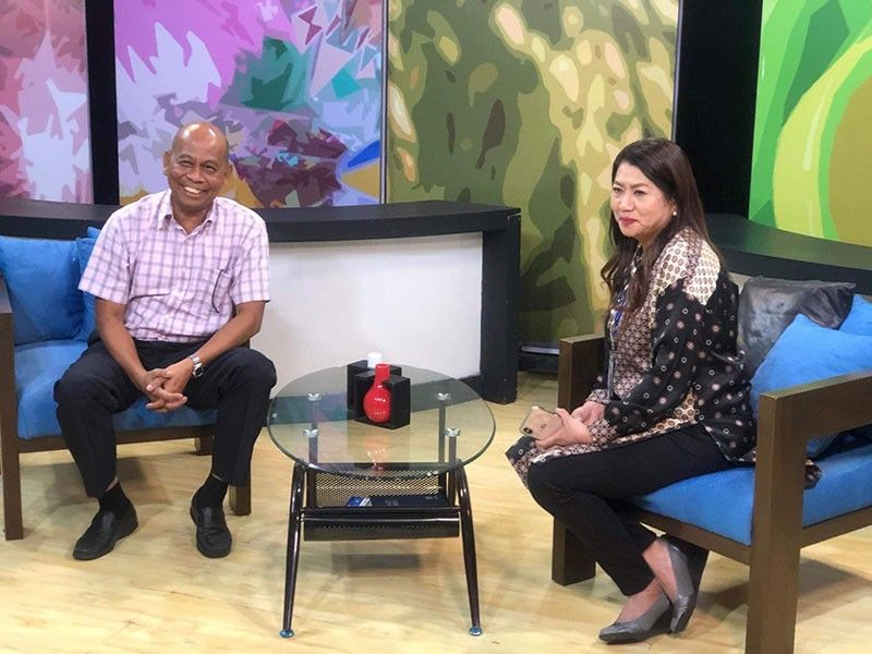 PAMPANGA. National Intelligence Coordinating Agency Central Luzon director Rolando Asuncion and Kapampangan broadcast journalist and CLVT36 President and General Manager Sonia P. Soto during their meeting at the CLTV36 station on Friday, September 20, 2019. (Contributed photo)
