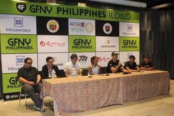 ILOILO. GFNY co-founder and CEO Uli Fluhme is making sure that all GFNY events are true granfondos in the Italian tradition: you get to have the right of way at each intersection, will be timed start to finish and your result will be based on your time. Fluhme during the press conference, Friday, September 20, in Iloilo to witness the GFNY Asia Championship on Sunday, September 22, 2019. (Photo by Leo Solinap)