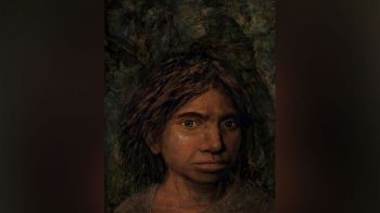 JERUSALEM. This image provided by Hebrew University in Jerusalem shows a portrait of a juvenile female Denisovan based on a skeletal profile reconstructed from ancient DNA methylation maps. Scientists say they've recreated a skull and some other features of a mysterious, extinct cousin of Neanderthals by analyzing its DNA. The genetic material came from the finger bone of a female member of the Denisovans, a population known mostly from small bone fragments and teeth recovered in Siberia's Denisova Cave. The the renderings that include skin and hair from the profile skeletal profile are not part of the study itself, but rather are based on the study results. (AP)