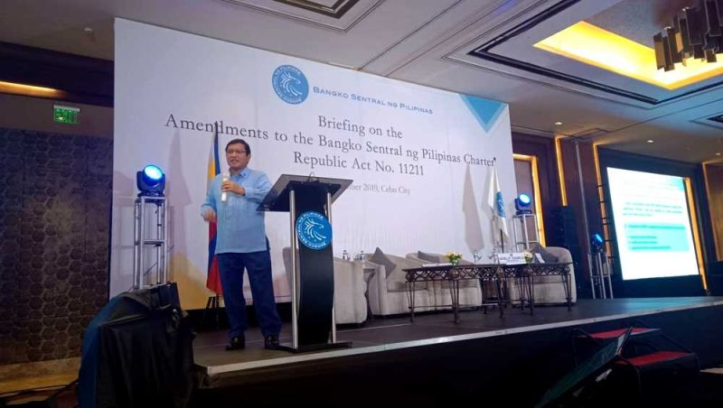 PRIVATE RIGHTS: Bangko Sentral ng Pilipinas Senior Assistant Gov. and General Counsel Elmore Capule says the passage of the amended charter took 20 years due to concerns that the additional powers given to the central bank may infringe on private rights. (SUN.STAR FOTO  / WENILYN SABALO)
