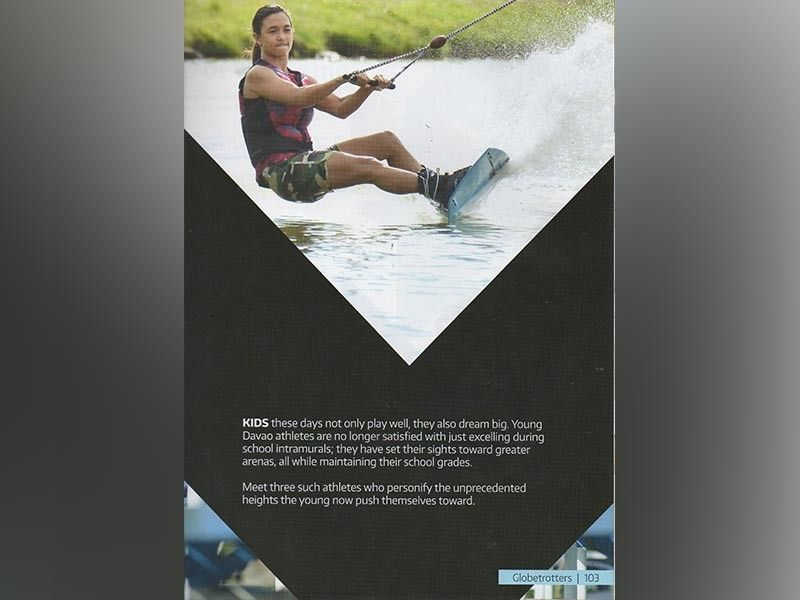 DAVAO. Si Davao City's Maiquel Jawn Teh Selga, sa SunStar Davao file photo, maikagon nga suwayan ang mas nipis nga board sa iyang pakigtigi sa waterski trick ski event sa 30th Southeast Asian (SEA) Games sa Pilipinas. (King Rodriguez)