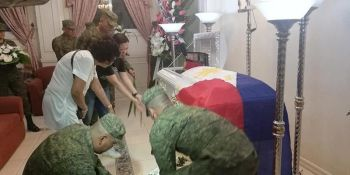CAGAYAN DE ORO. The remains of PMA cadet Darwin Dormitorio have been brought back to Cagayan de Oro City. A wake is being held at the Cosmopolitan Funeral Homes in Cagayan de Oro City. (SunStar CDO Facebook)