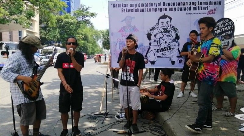 DAVAO. Protesters gather at the Freedom Park along Roxas Boulevard during the 47th anniversary commemoration of the martial law declaration on Saturday, September 21. (SunStar File)