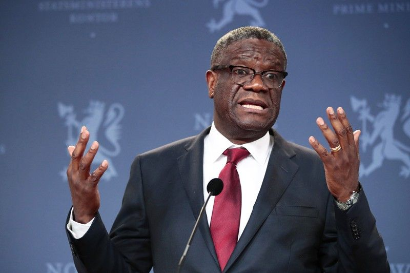 NORWAY. In this December 11, 2018, file photo, Nobel Peace Prize laureate Dr. Denis Mukwege speaks to the media during a news conference in Oslo, Norway. The Nobel Peace-prize winning surgeon whose hospital in war-torn Congo has treated over 50,000 victims of sexual violence has launched a fund with the goal of providing reparations for survivors of conflicts around the world. (AP)