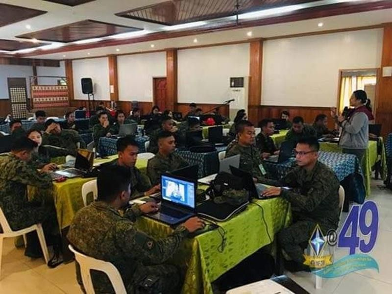 CAGAYAN DE ORO. Civil military operations officers of the 4th Infantry Division  undergo training to combat the New People's Army through social media. (Photo courtesy of 4ID)