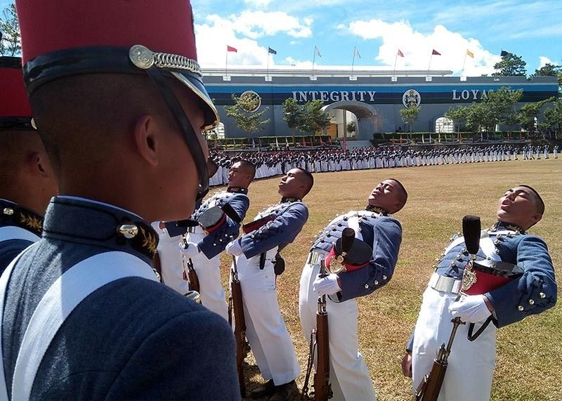 BAGUIO. Philippine Military Academy (PMA) cadets line up at the Borromeo Field during one of the academy's gathering. Two senators recently condemned the death of a cadet allegedly due to hazing and called on the hazing culture will never change if seniors say it shouldn't change in hierarchical institutions. (SSB file photo)