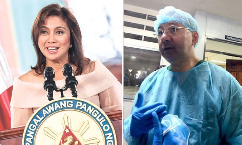 MANILA. Vice President Leni Robredo (left) and Dr. Erwin Erfe, PAO's forensic team director. (SunStar File)