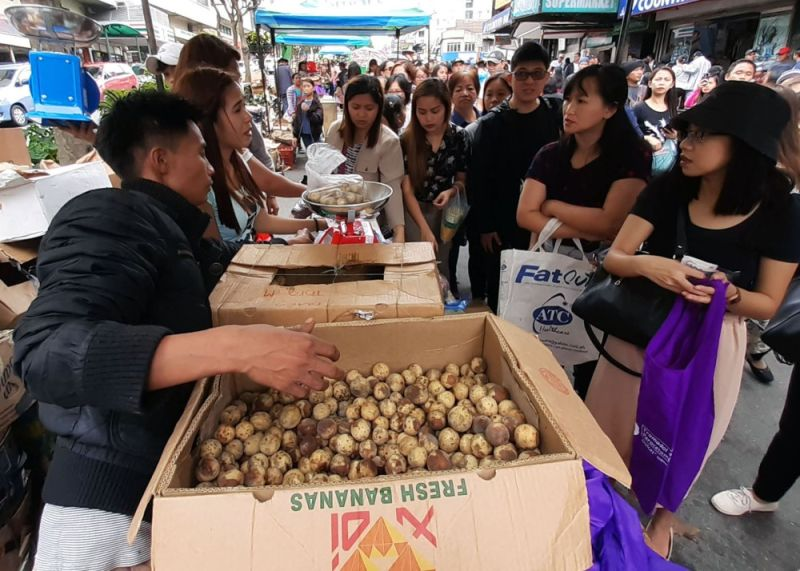 BAGUIO. After the successful staging of Minda Fruit festival in Baguio City, the town of La Trinidad in Benguet will also hold a one day market fusion with the province' fruits and vegetables. (Photo by Redjie Melvic Cawis)