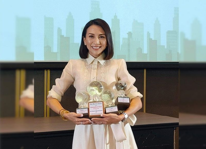 CEBU. Liloan Mayor Christina Garcia Frasco received the trophies on behalf of the town in the 3rd Manila Times Philippine Model Cities and Municipalities Awards. (Contributed photo)