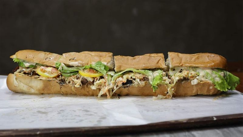 DAVAO. The 16-inch submarine sandwich for the submarine challenge. (Photo by Out Of Nowhere Kitchen)