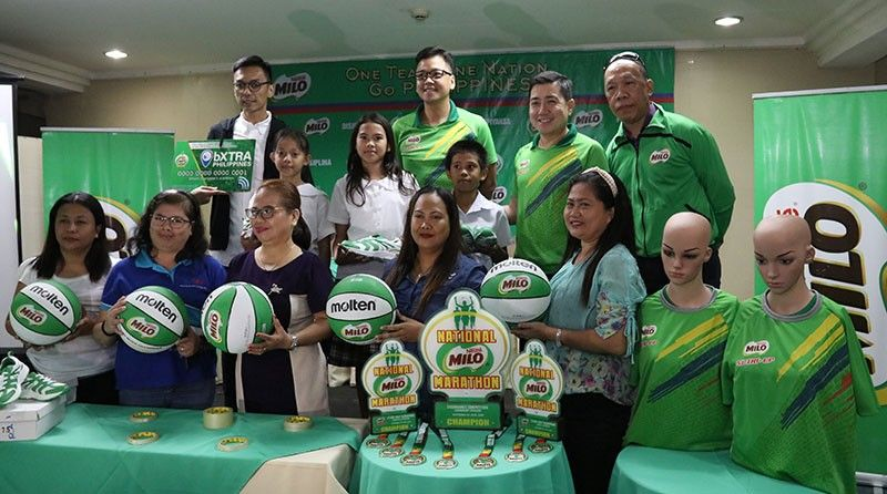 DONATION. Organizers of the Milo marathon say they have turned over some 85,000 pairs of shoes to athletes since 2010. (SunStar Photo/Amper Campaña)