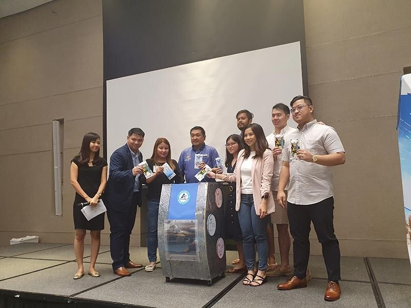 BORACAY. A ceremonial Used Beverage Carton (UBC) drop-off was initiated by Tetra Pak Philippines and other stakeholders at Crimson Resort and Spa-Boracay in Boracay Island. (Jun N. Aguirre)