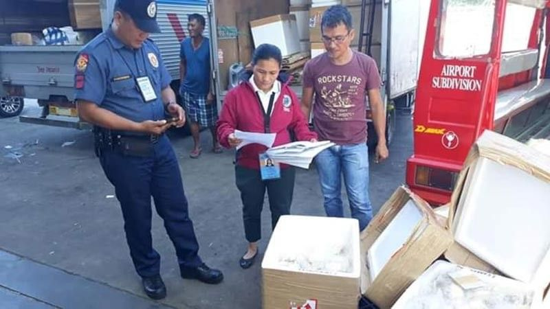 BACOLOD. Part of the 473 kilograms of pork products intercepted by members of the Provincial Task Force on African Swine Fever at the Bacolod-Silay Airport in Silay City from September 24 to 26. (Contributed photo)