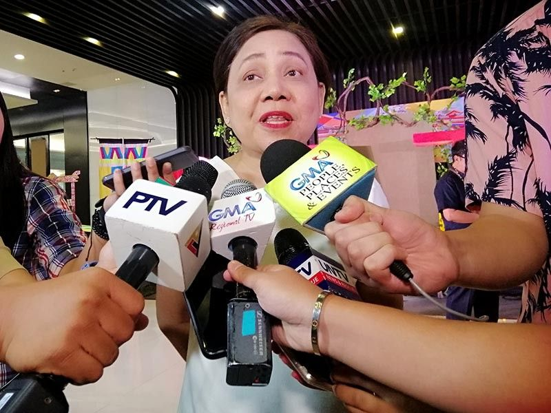 DAVAO. Senator Cynthia Villar answering questions from Davao press during the Date Expo last September 26, 2019 at the SMX Convention Center. (Ralph Lawrence G. Llemit)