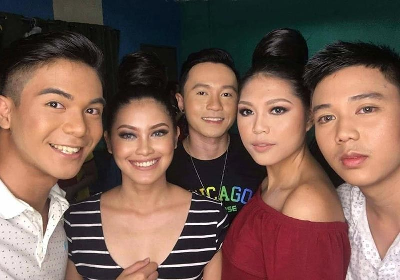 BACOLOD. With fellow models during a Panaad Fashion Show. (Contributed photo)
