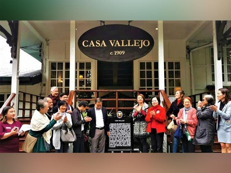 BAGUIO. The unveiling of the Casa Vallejo marker as a historical site. (Contributed photo)