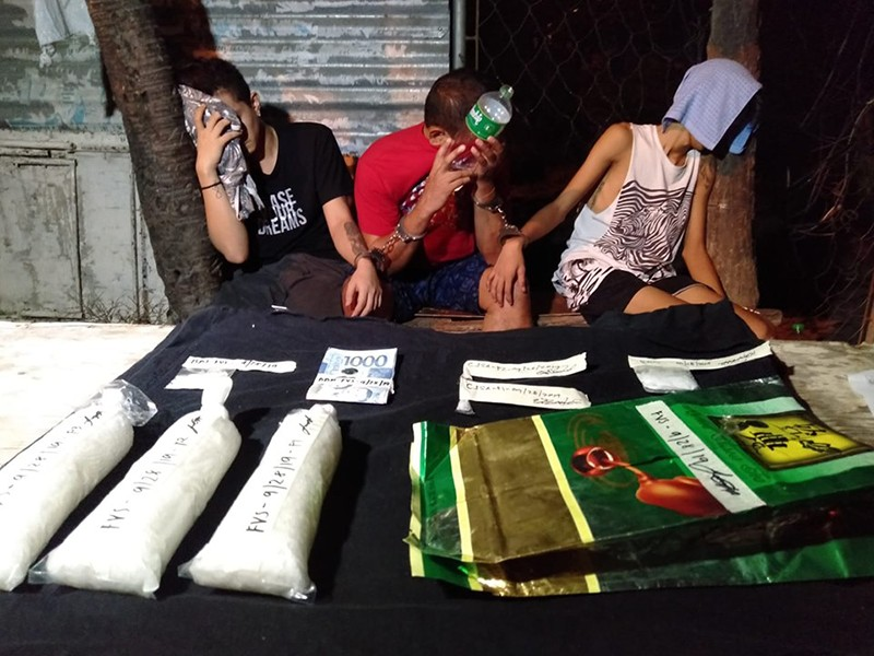 BIG HAUL. More than P4 million worth of illegal drugs was confiscated while three high-value drug targets were arrested in separate operations in the cities of Talisay and Mandaue from Friday, Sept. 27, 2019, to Saturday, Sept. 28, 2019. (SunStar Photo / Benjie B. Talisic)