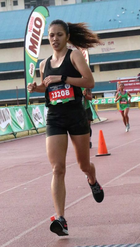 FOUR IN A ROW. Though listed under a different name, Ruffa Sorongon's dominance paved the way for her fourth straight title in the Milo Marathon held in Cebu City on Sept. 29, 2019. (SUNSTAR FOTO / AMPER CAMPAÑA)