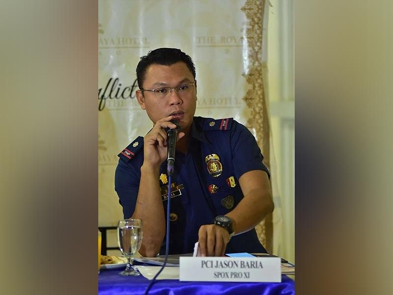 DAVAO. Police Major Jason Baria. (SunStar File)