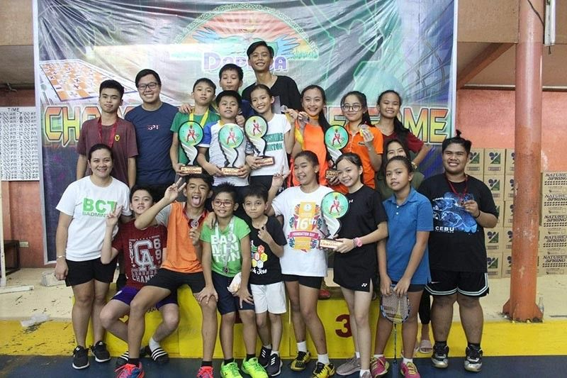 GOLD HAUL. The Brokenshire College of Toril collects five gold medals and one silver at the close of the Davao Association of Private Schools and Administrators Games 2019 badminton competition held at the Smash N' Drop, San Pedro Extension, Poblacion District, Davao City. (Contributed photo)