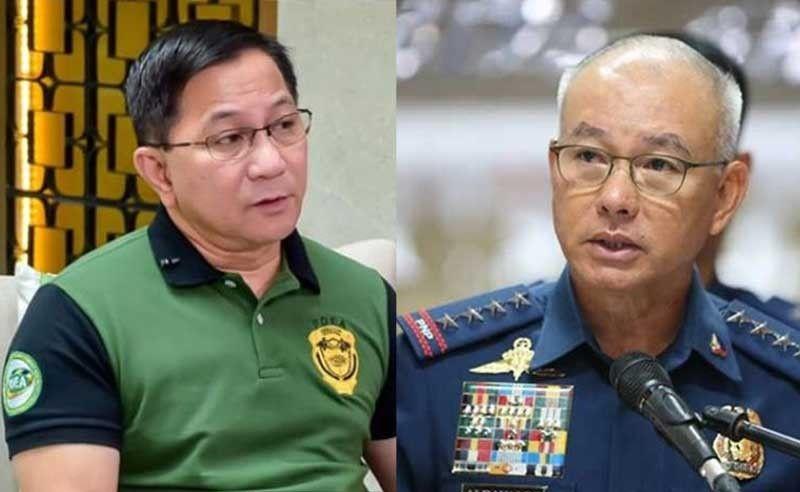 PDEA Director Aaron Aquino (left) and PNP Director General Oscar Albayalde (right) (File Photos)