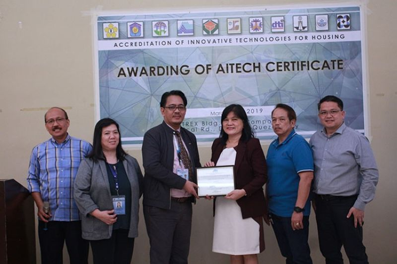 CAGAYAN DE ORO. Philmetal Products Inc. recently received the company's new AITECH certificate on the Galvaframe System during the Accreditation of Innovative Technologies for Housing ceremony. In photo (from left) are  NHA-Housing and Technology Development Office Division Manager Engr. Jovita G. Panopio, Atty. Angelito F. Aguila of the Housing and Urban Development Coordination Council, Philmetal head of Sales Vicky Zafra-De Leon, AITECH Member-HLURB Eng Julius Tan and Philmetal Sales Manager Francis Evangelista Jr. (Contributed photo)