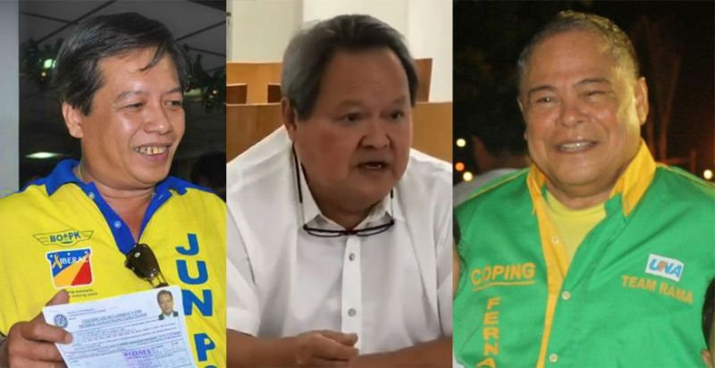 CEBU. (From left) MCWD Directors Augustus Pe Jr., Joel Mari Yu, and Procopio Fernandez. (Photos from Cebu City PIO and Facebook accounts of Fernandez and Pe)
