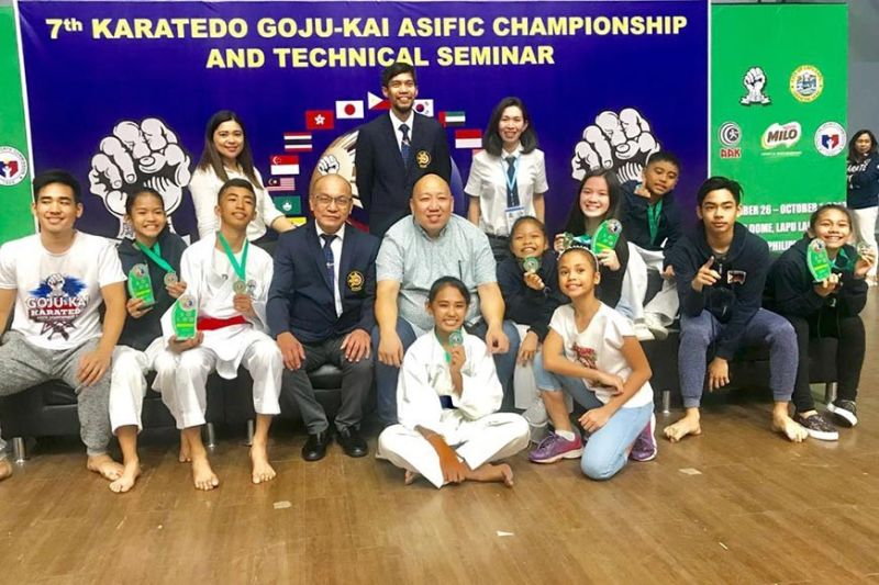 WE DID IT. Karatekas from Cebu took home nine golds, five silvers and 11 bronze medals in the 7th Karatedo Goju-Kai Asia Pacific Championships and Technical Seminar. (Contributed photo)