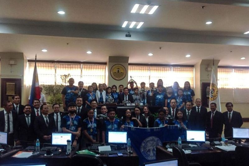 ERNESTINIAN EXCELLENCE. Students of Marie Ernestine School visit the Cebu City Council after bagging several prizes at the 18th Philippine Robotics Olympiad in Quezon City on Sept. 2-6, 2019. (Contributed photo)