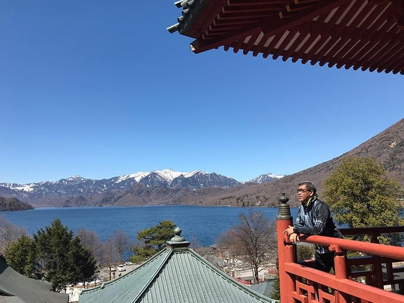 JAPAN. Lake Chuzenjiko viewed from Chuzenji Temple.