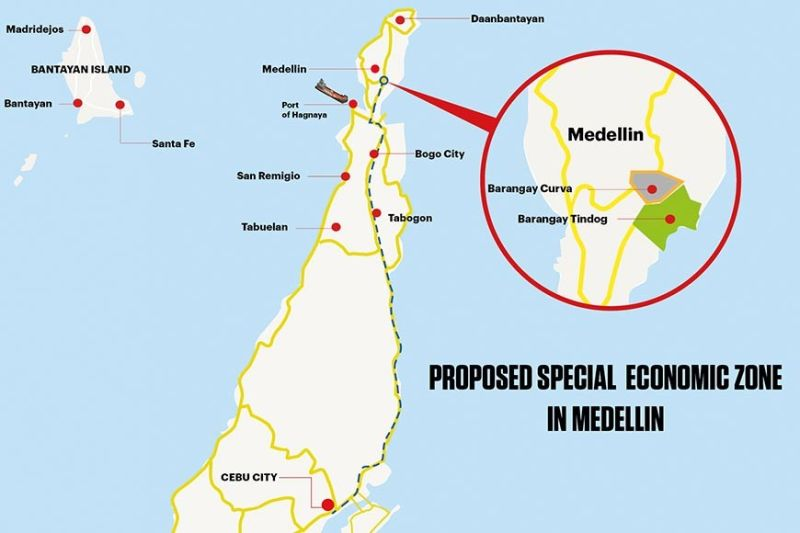 DECONGESTING THE METRO. The proposed Special Economic Zone in Medellin will encourage students in the fourth district to stay in their hometowns and work there, instead of leaving for greener pastures. (SunStar graphics / Enrico Santisas)