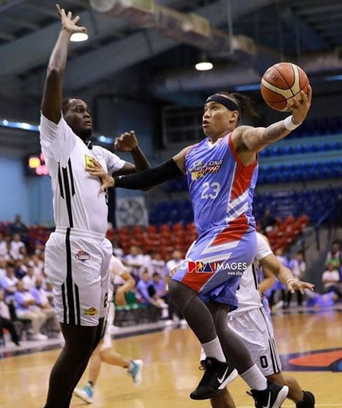 MVP-frontrunner Eloy Poligrates is expected to lead Marinerong Pilipino's attack in the finals. Marinerong Pilipino is set to face BRT Sumisip Basilan-St. Clare in Game 1 on Thursday, October 3, 2019. (Foto courtesy of the PBA D-League)