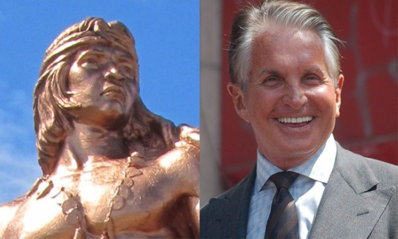 Lapu-Lapu and movie actor George Hamilton (Photos from Wikimedia Commons)