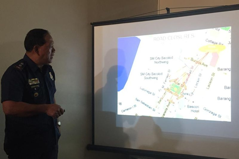 BACOLOD. Bacolod Traffic Authority Office Police Lieutenant Colonel Luisito Acebuche presents Wednesday, October 2, the road closure for 40th MassKara Festival in Bacolod City from October 7 to 27, 2019. (Merlinda Pedrosa)