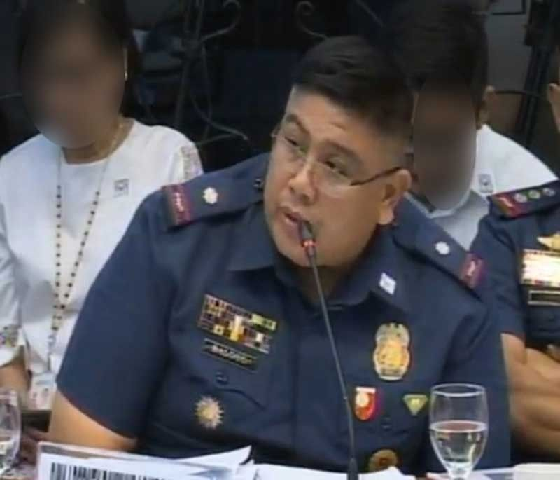 Police Major Rodney Raymundo Baloyo IV (Screenshot from Senate video)