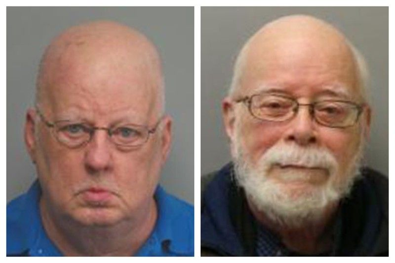 MISSOURI. This combination of 2019 and 2017 photos made available by the Missouri State Highway Patrol shows James Alan Funke, left, and Jerome Bernard Robben. Three decades earlier, Funke, a Catholic priest, and Robben, a fellow teacher at a St. Louis Catholic high school, went to prison for sexually abusing male students together. Funke, released in 1995, was eventually bounced from the priesthood. But years later, the two men joined together again, promoting Robben as the leader of a church of his own making. (AP)